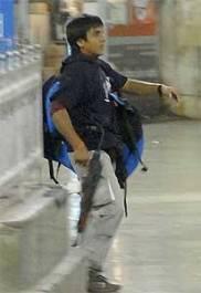 Ajmal Kasab in the Chhatrapati Shivaji Terminus, Mumbai